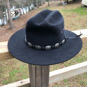 Beaver Brand Hats Fur FeltBlack Western Hat 6 7/8